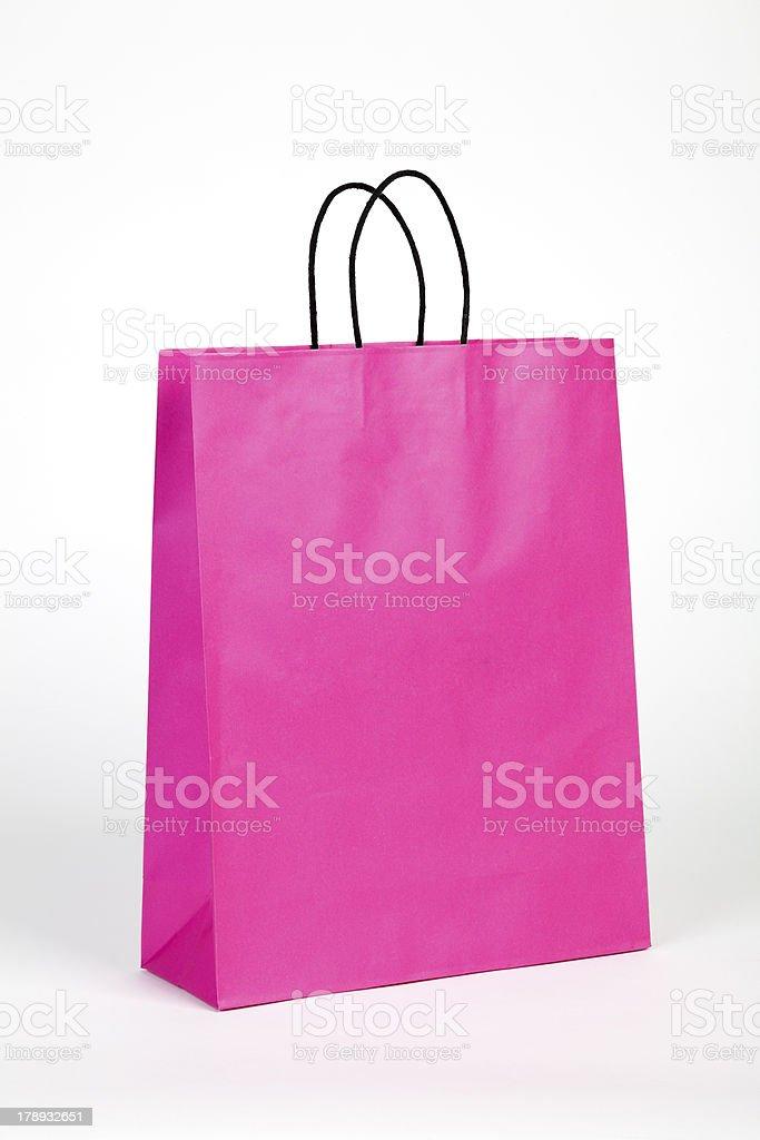 Pink shopping bag. royalty-free stock photo