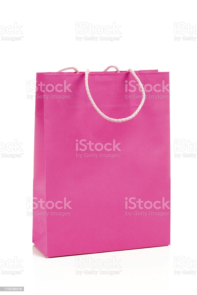 Pink Shoppingbag royalty-free stock photo