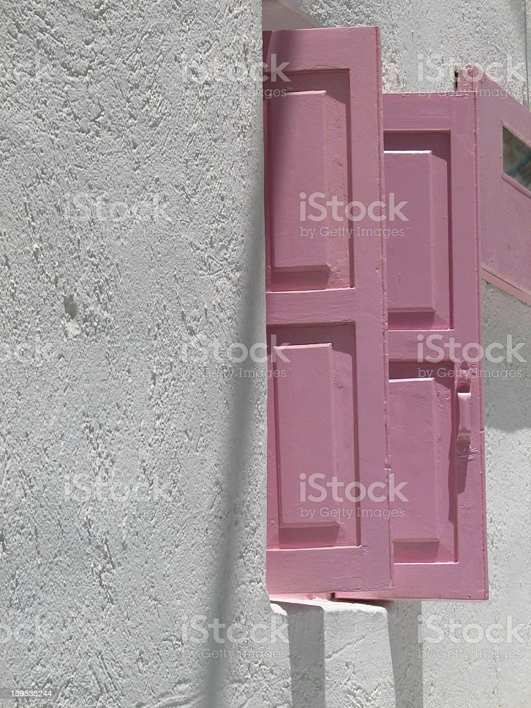 pink shutters royalty-free stock photo
