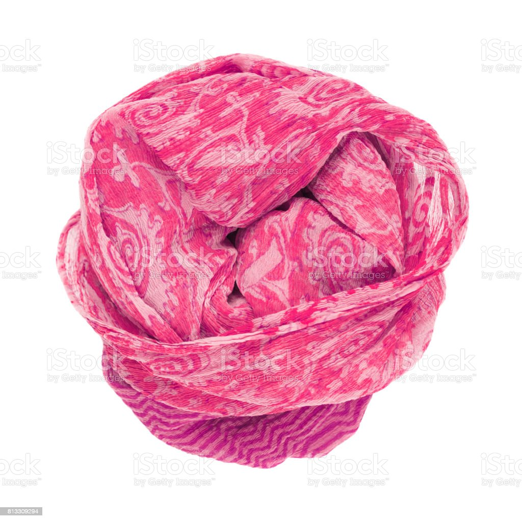 693c9fa7d Pink Silk Scarf Isolated On White Background Stock Photo - Download ...