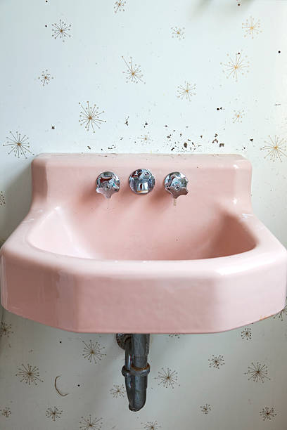 Pink sink stock photo