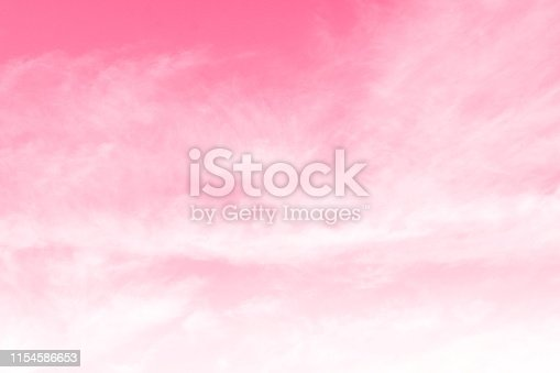 istock Pink Sky background, Sky Pink Valentine, Sky pink Beautiful background with clouds 1154586653
