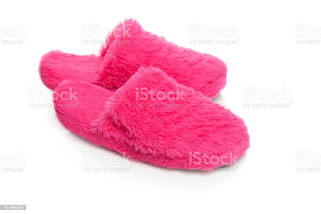 Rosa pantuflas foto de stock libre de derechos
