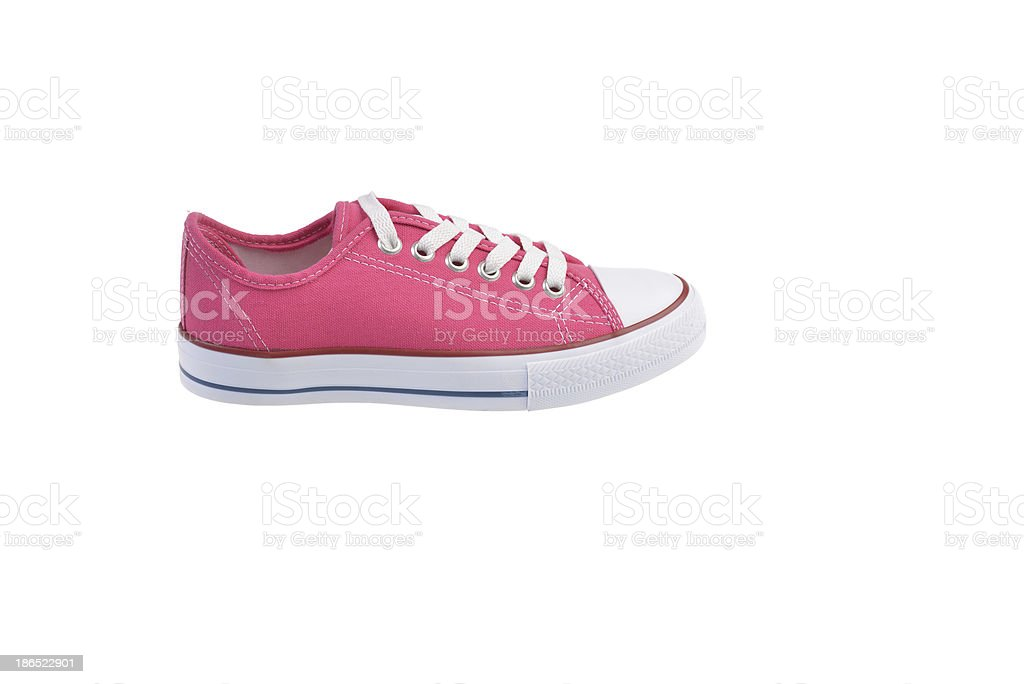 Pink Sneaker Shoe with clipped royalty-free stock photo
