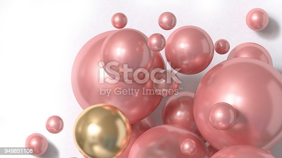 istock pink sphere abstract background 3d rendering 949851108