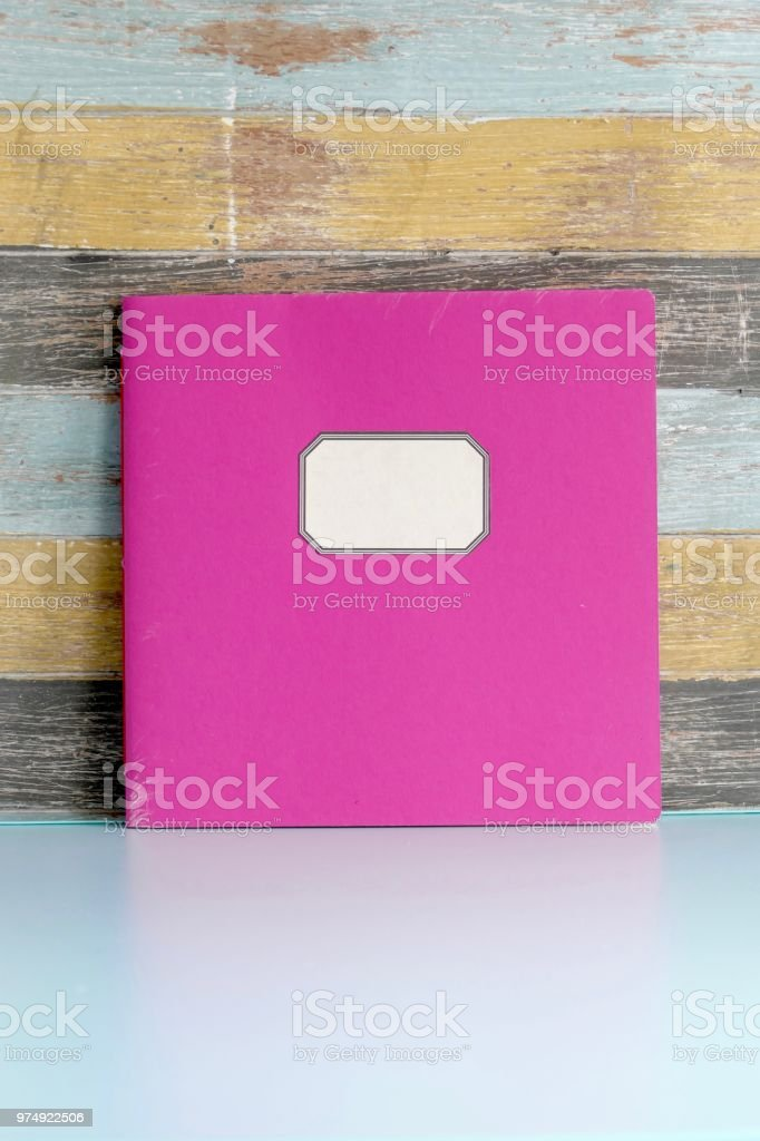 Square brochure on multi colored shabby chic background