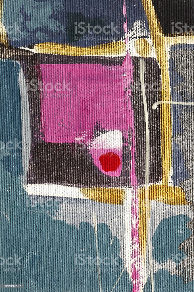 Pink square: oil on canvas royalty-free stock photo
