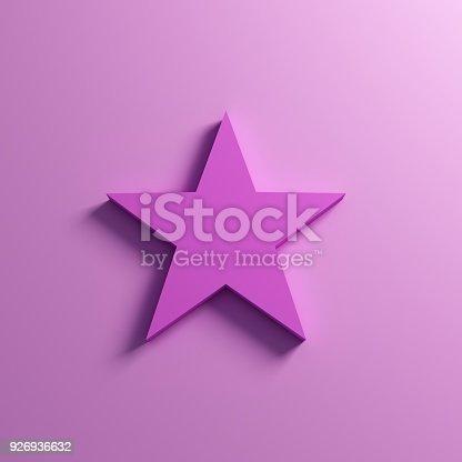 871072052 istock photo Pink Star Icon. 3D Render Illustration 926936632