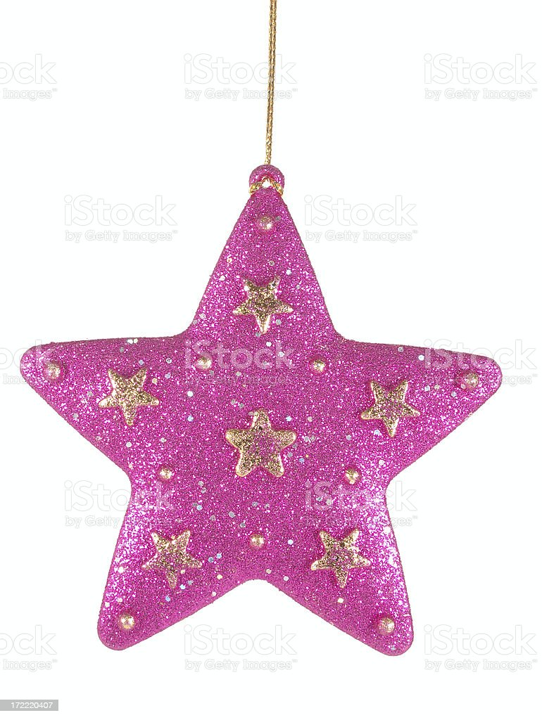 pink star royalty-free stock photo