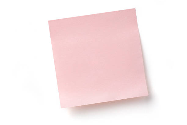 Pink Sticky Note stock photo