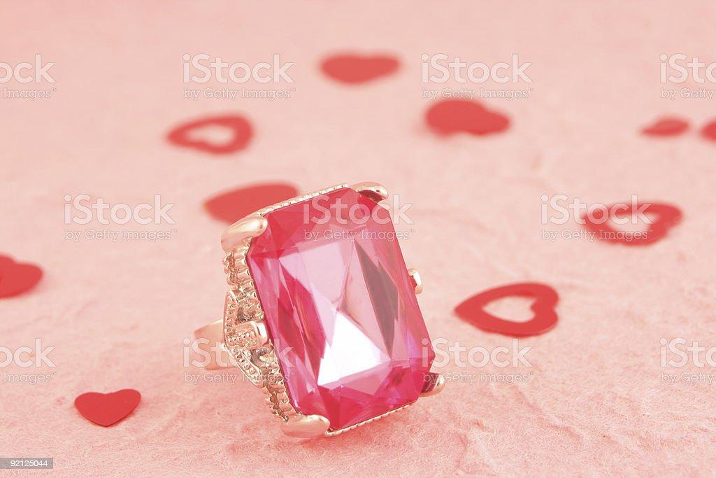 pink stone ring royalty-free stock photo