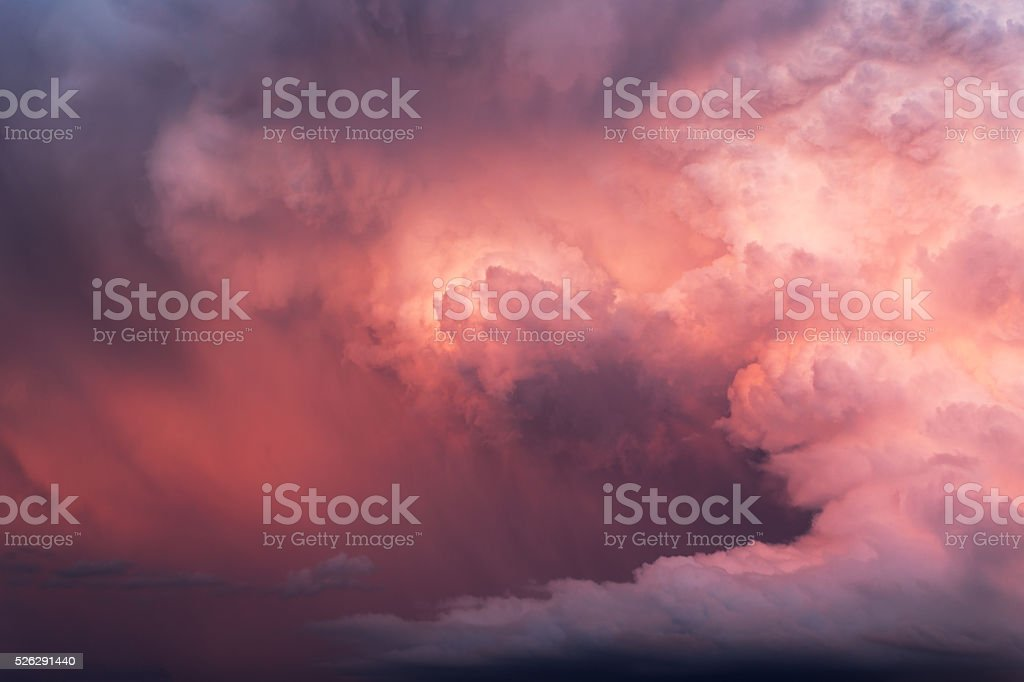 Pink Storm Clouds stock photo