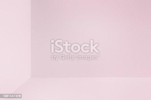 1040250650 istock photo Pink studio corner 1061447428