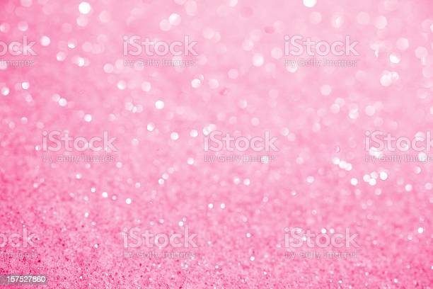 Pink Sugar Sparkle Background Stock Photo - Download Image Now