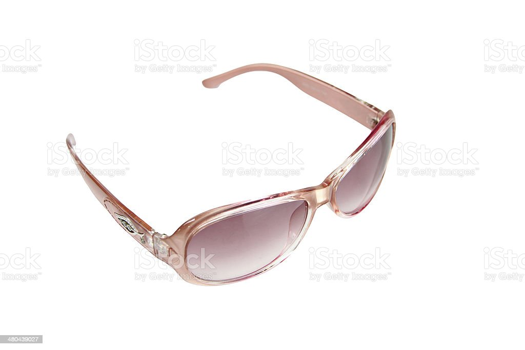 Pink Sunglasses isolated. royalty-free stock photo