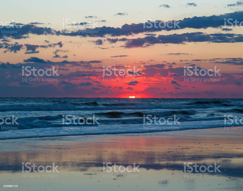 Pink Sunrise stock photo