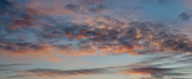 Pink Sunset Background stock photo