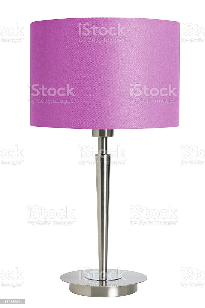 pink table lamp royalty-free stock photo