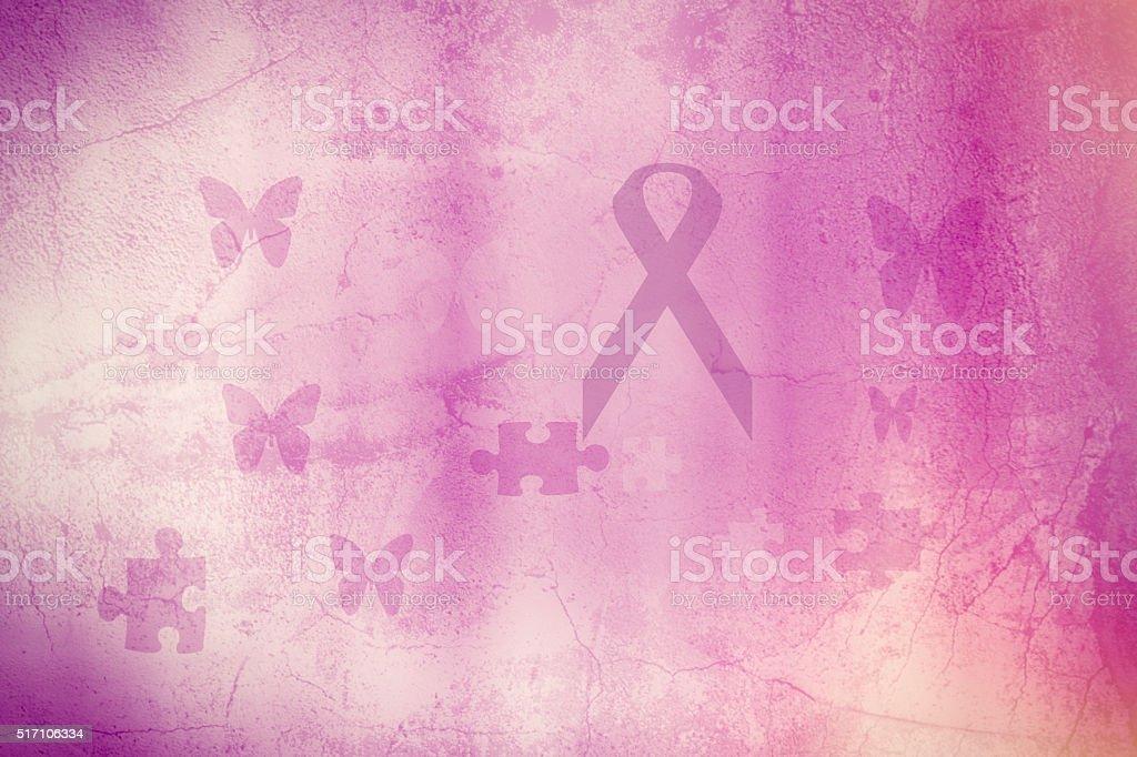 Rosa Band-ein Symbol von Brustkrebs – Foto