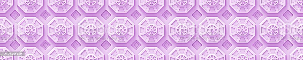pink tech background with octagon based shapes (seamless) stock photo