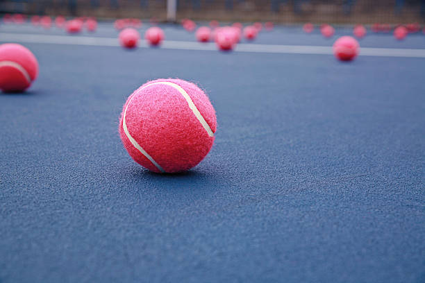 Pink Tennis Balls stock photo