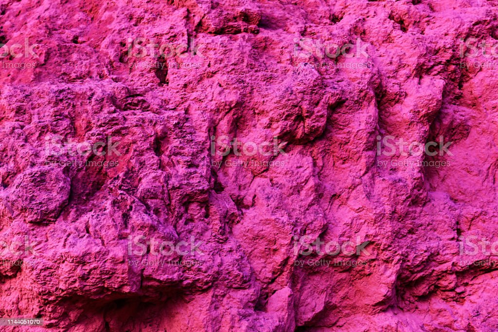 Pink textured organic background, natural sandstone surface stock photo