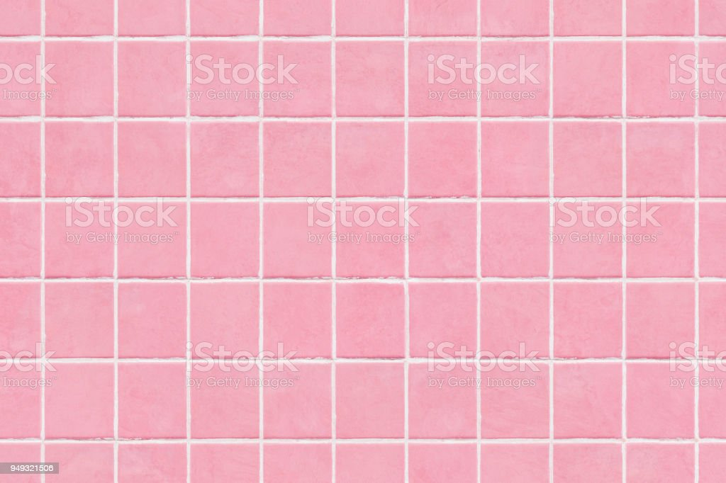 Pink Tile Wall Texture Background Royalty Free Stock Photo