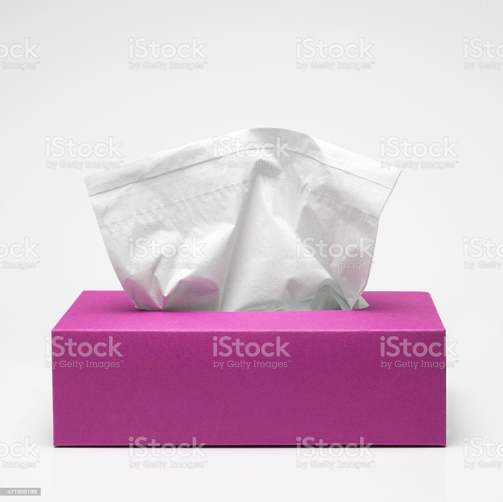 Rosa caja de tejido - foto de stock