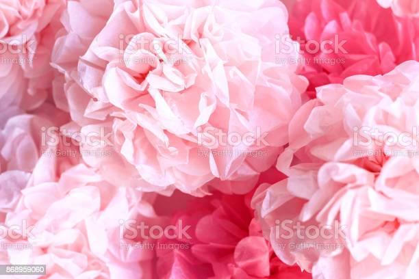 Pink tissue paper pom poms background picture id868959060?b=1&k=6&m=868959060&s=612x612&h=vlxbih1rzo7vh1wcygkkmfxyauv2kl2glfcokhejzmi=