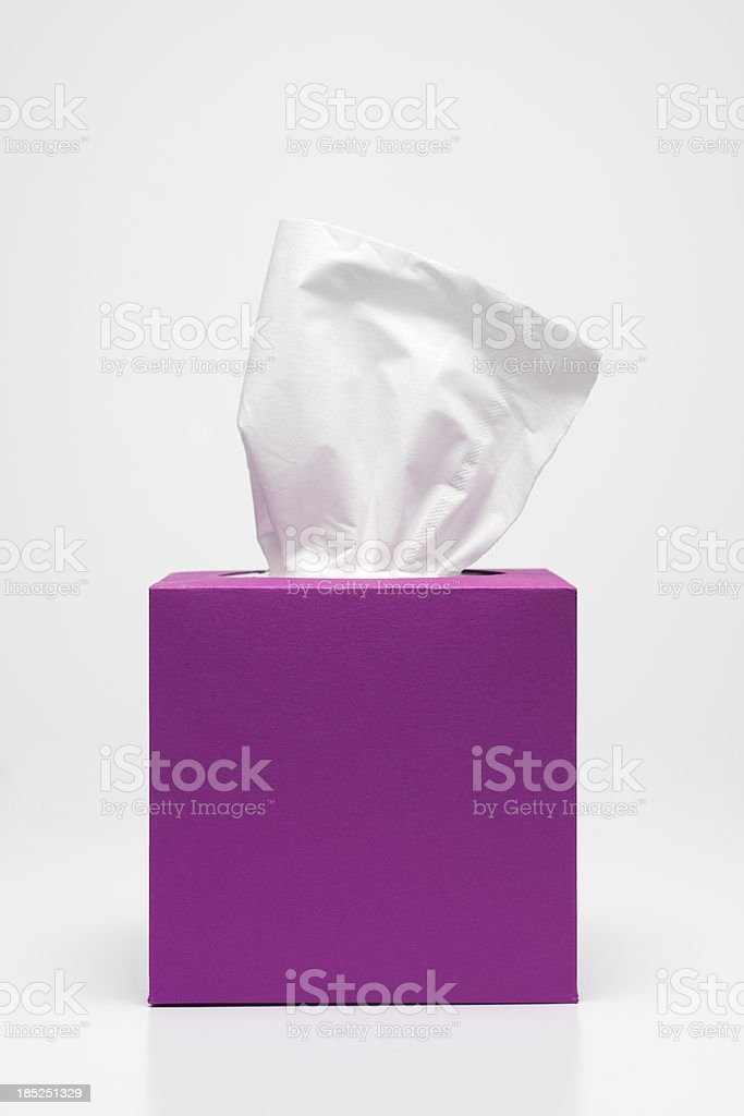 pink tissues stock photo