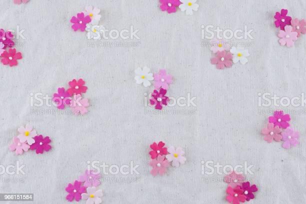 Rosa Ton Papper Blommor Mönster På Tunt Tyg-foton och fler bilder på Abstrakt