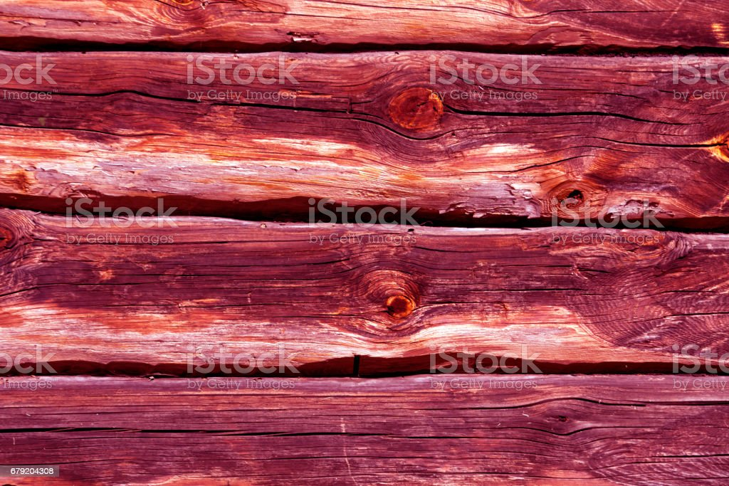 pink toned log house wall. foto de stock royalty-free