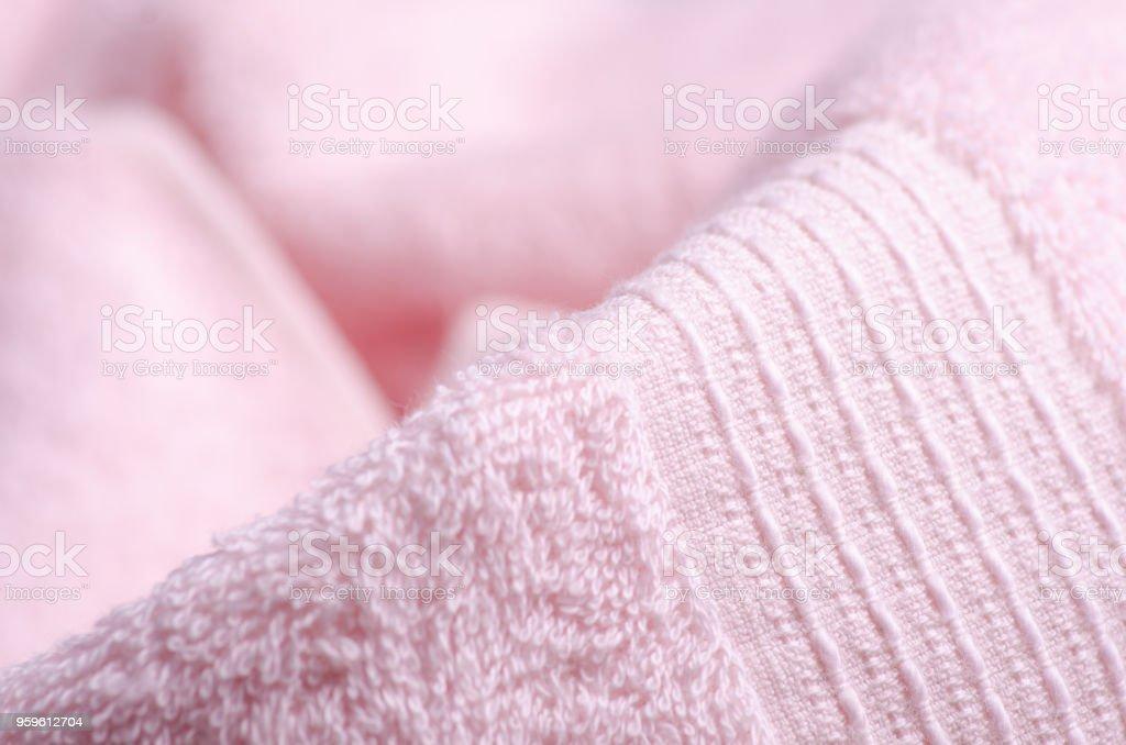 Macro de toalla rosa - Foto de stock de Abstracto libre de derechos