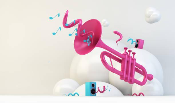 Rosa Trompetenillustration – Foto