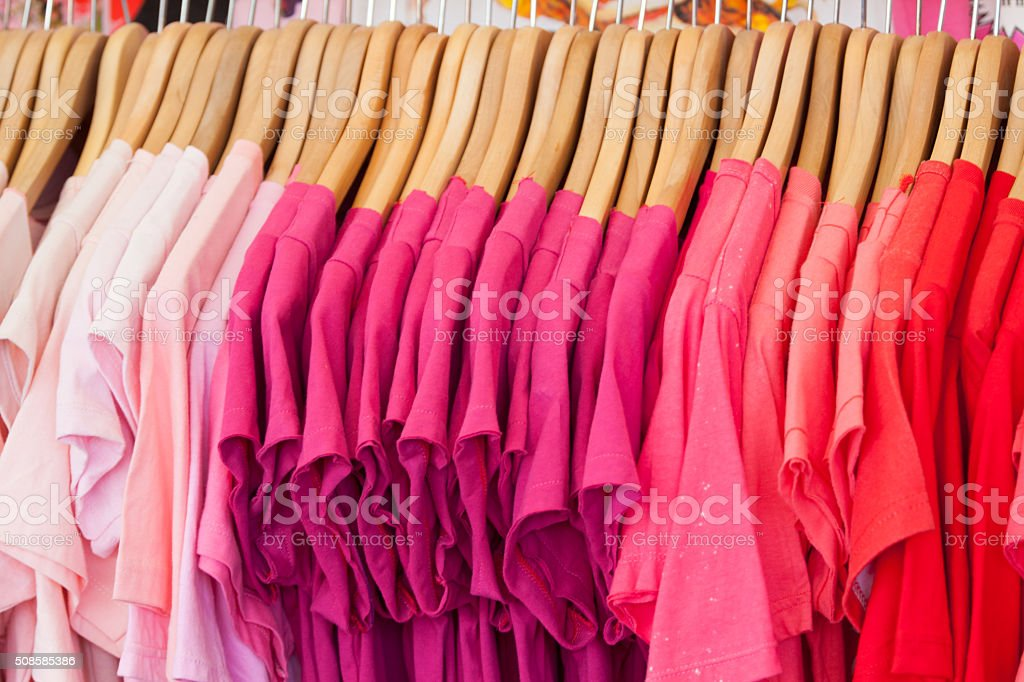 pink t-shirts stock photo