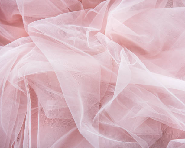 pink tulle background - tiul tkanina zdjęcia i obrazy z banku zdjęć