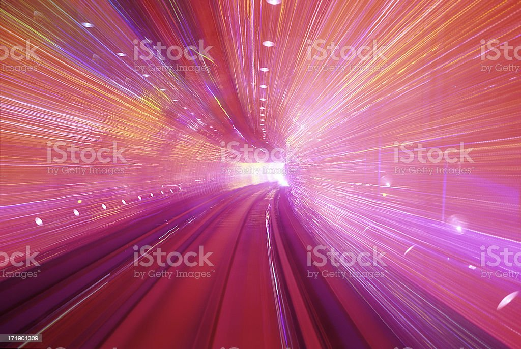 Pink Tunnel stock photo