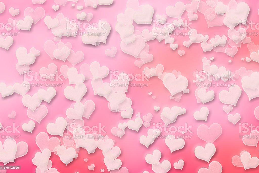 Pink Valentine Heart Background Valentines Day Wallpaper