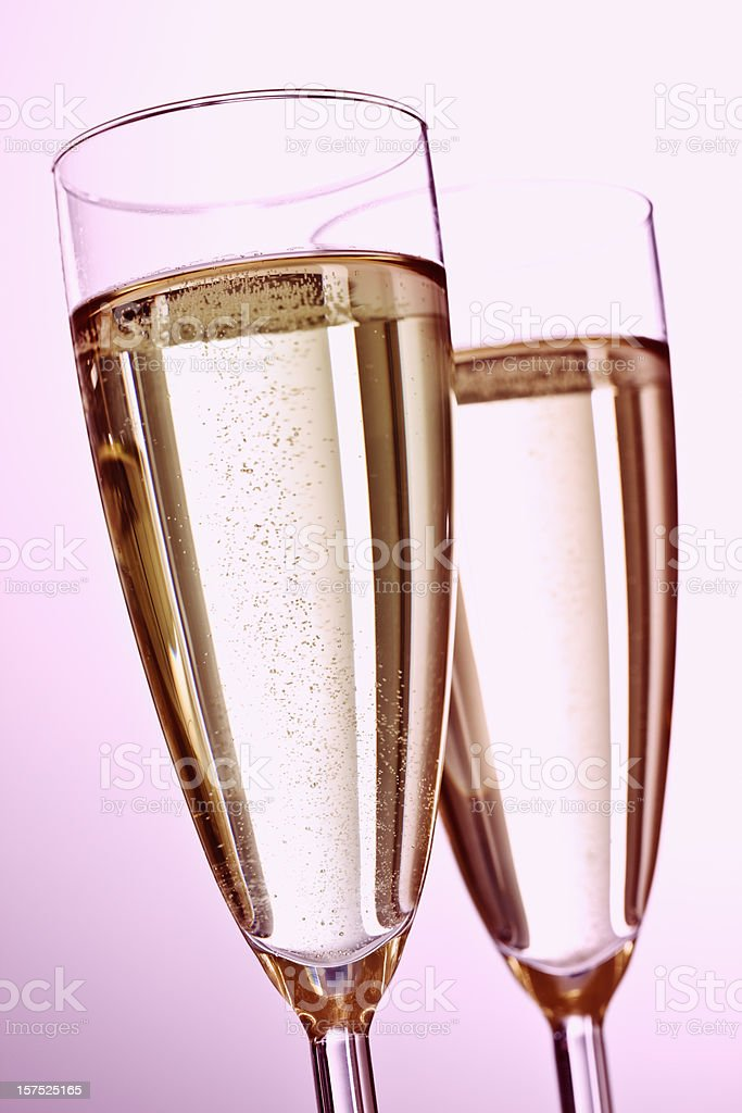 Pink Valentines Day Champagne stock photo