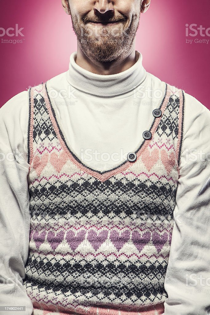 Pink Valentines Day Sweater royalty-free stock photo