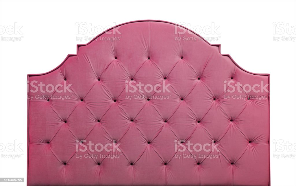 Pink Velvet Bed Headboard Isolated On White Stock Photo Download Image Now Istock
