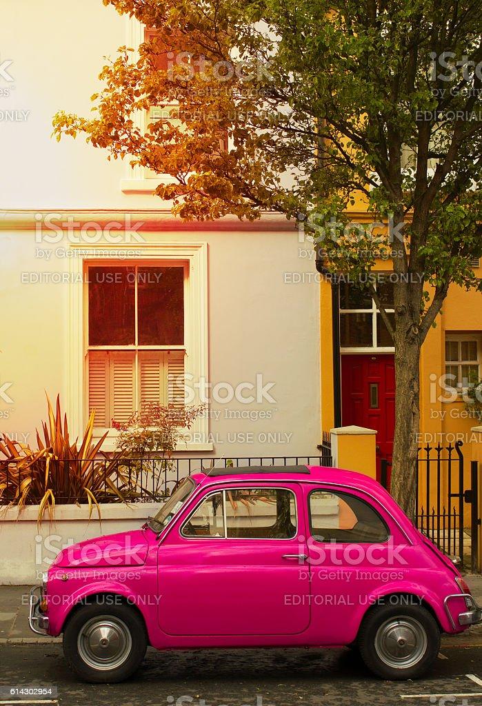 Pink vintage car - foto stock