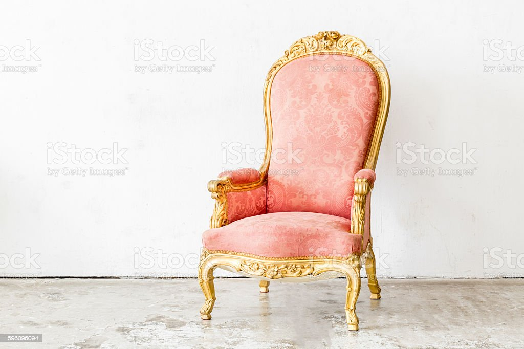 Pink Vintage Chair royalty-free stock photo