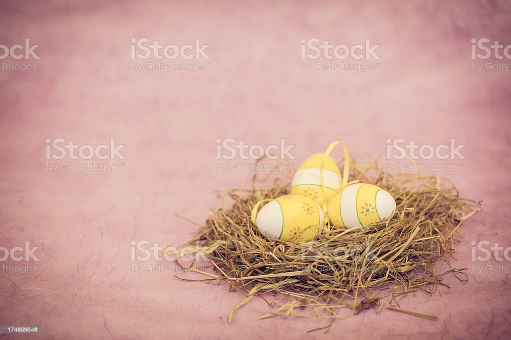 Pink Vintage Easter royalty-free stock photo