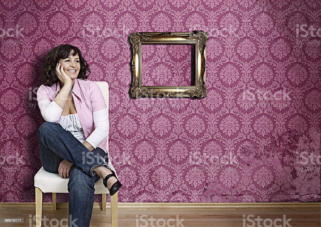 pink wall 6 royalty-free stock photo