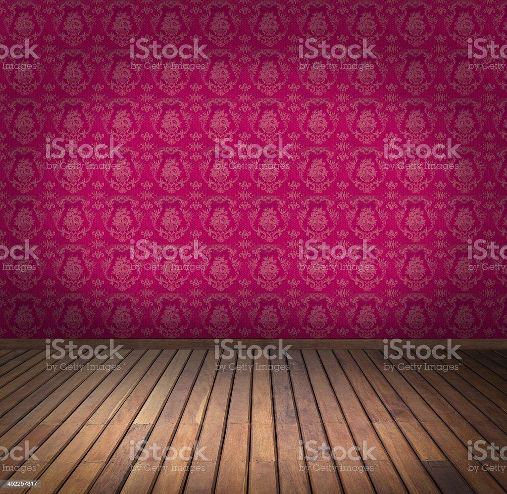 pink wallpaper room royalty-free stock photo