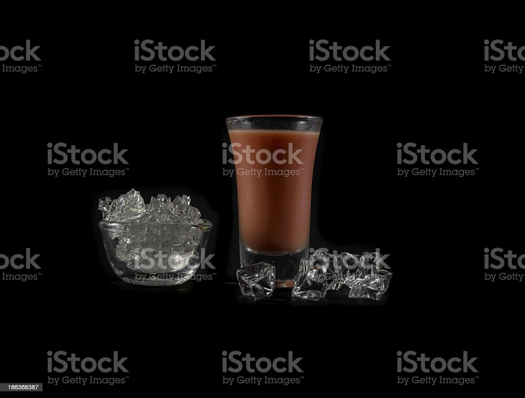pink water and ice royalty-free stock photo