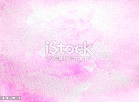 istock Pink watercolor background on a white paper 1130833161
