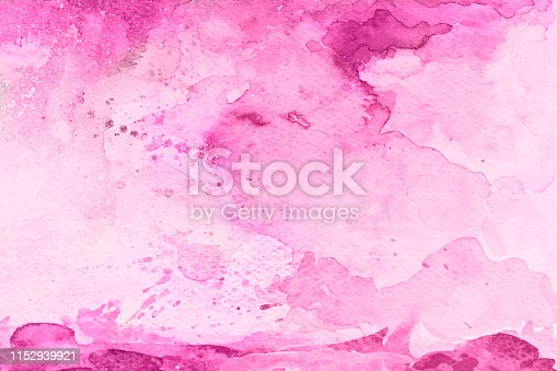 istock Pink watercolor background on a white paper 1152939921