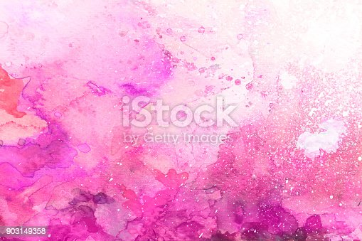 istock Pink watercolor background on a white paper 903149358